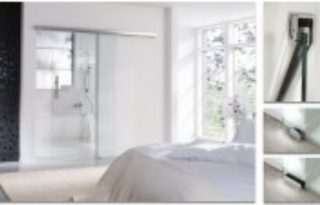 drsna steklena vrata v stanovanju